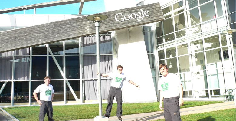 Daniel three times in front of Google